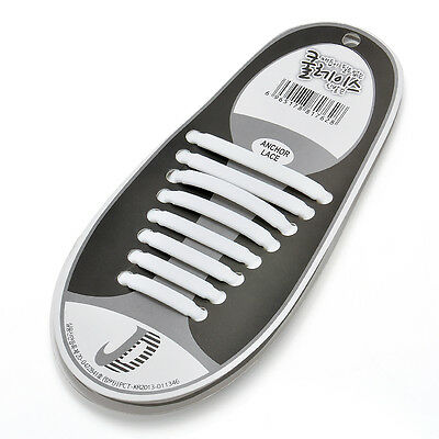 16PCS/Set Unisex Silicone Elastic Shoelaces No Tie Shoe Laces Fit All Sneakers