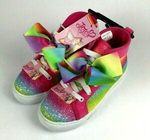 Jojo Siwa Pink Siwa Bow Shoes Rainbow