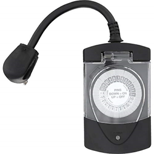 Heavy Duty 15 Amp 2 Outlet Outdoor Timer Pool Pump Electrical Lights