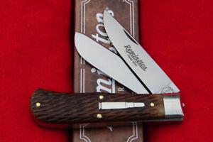 Remington USA R7352 Prospector Jigged Bone Baby Bullet Bullet Knife - 2021 - GEC
