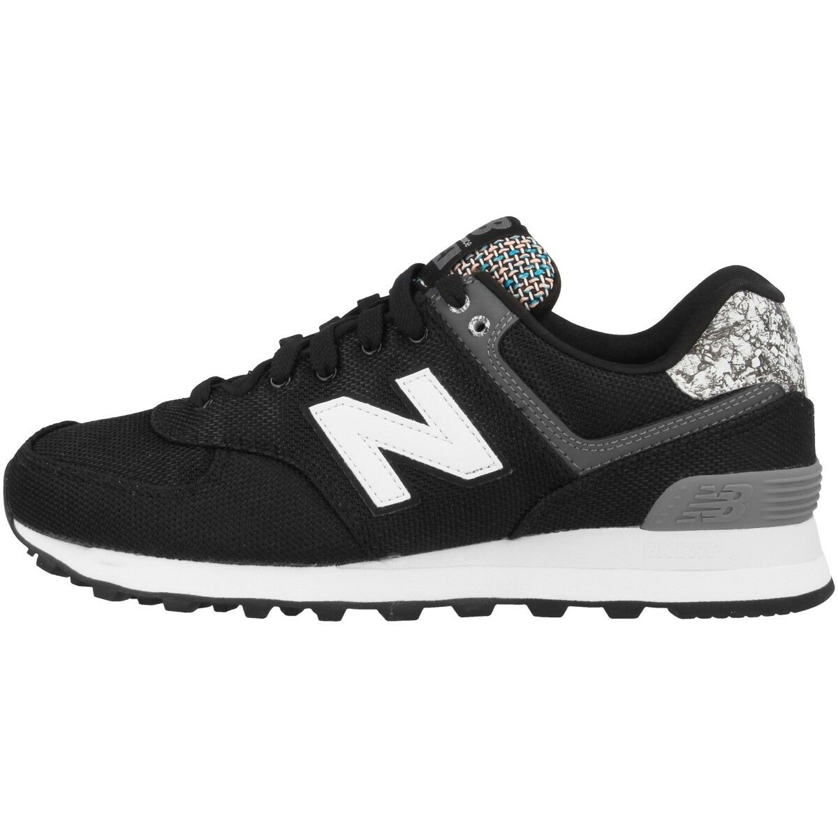 New Balance WL 574 ASB Damens Schuhe silver mink schwarz WL574ASB Damen Sneaker 373