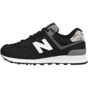 NEW BALANCE WL 574 ASB SCARPE DONNA ARGENTO VISONE BLACK wl574asb Sneaker 373