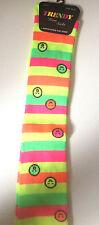 1 pair Womens girls Over Knee Socks Long Neon Rainbow Fashion Socks emoji sock