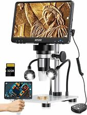 7 Lcd Digital Microscope With 32gb Sd Card 1080fhd Usb Coin Microscope Black