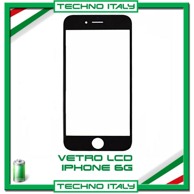 VETRO PER APPLE IPHONE 6 DISPLAY LCD RICAMBIO SCHERMO NERO FLAT