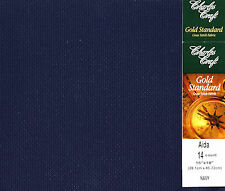 "Charles Craft Navy 14 Ct Aida XStitch Fabric / Cloth 15"" x 18"" #GD-1436-5225"