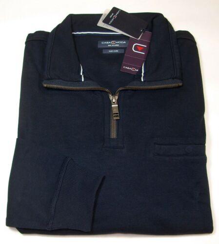 CASA MODA Sweatshirt Troyer Langarm Größe 2XL 3XL 4XL blau NEU UVP 59,99€-69,99€