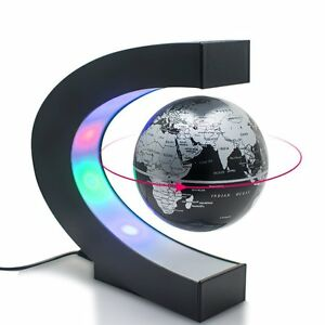 Image Is Loading Perpetual Motion Floating Globe Office Desk Toy Rotating