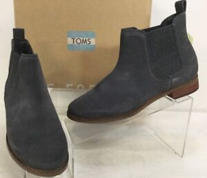 d3f89a82de6d12 Toms Ella Forged Iron Grey Suede Ankle Boot Pull On Women s Sz 7.5 ...