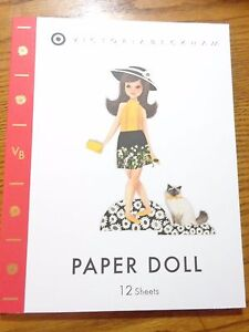NEW Victoria Beckham for Target Paper Doll Book 12 pages Limited Availability