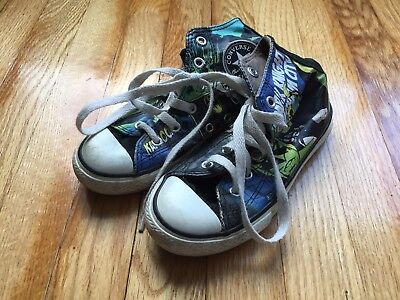 72233450faf571 Converse All Stars Batman Comics Casual High Top Shoes Kids Youth Boys Size  12.5