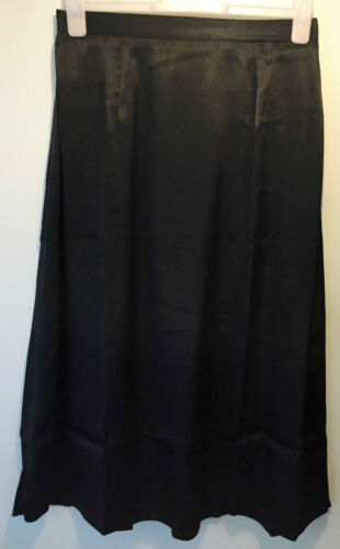 LADIES BLACK SILKY SATIN LONG DRESSY SKIRT SIZE 12//14//16 NEW Ex-CATALOGUE BRAND