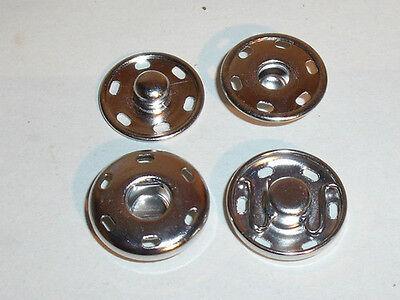 25 Boutons-pression bouton-poussoir 19mm coudre Argent!! rouille librement!!!