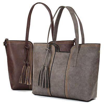 Fashion Lady Women Leather Handbag Tassel Shoulder Bag Tote Purse Messenger Bag