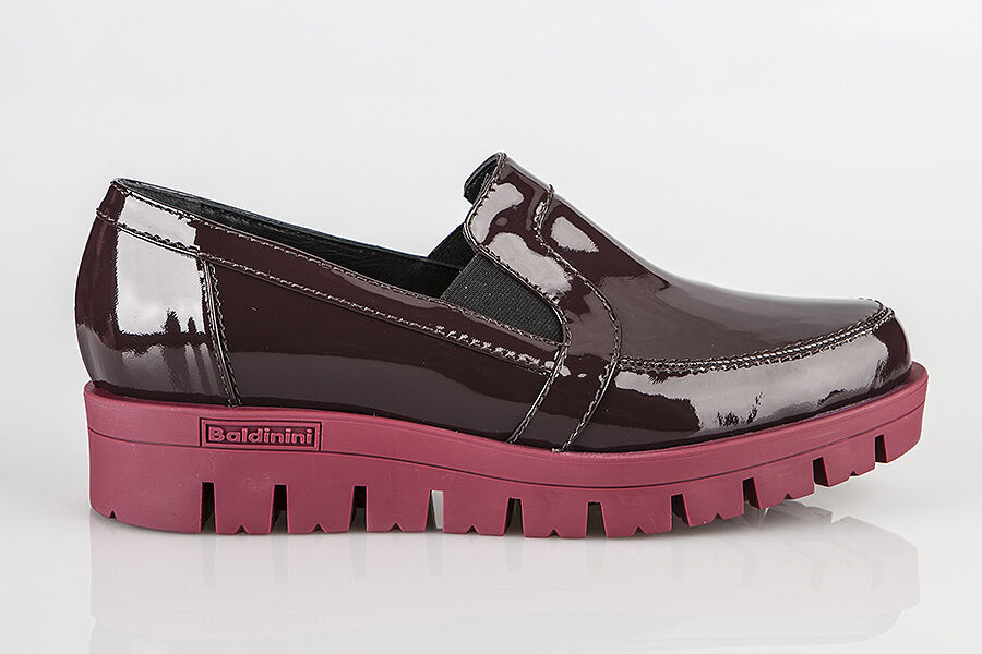 Authentic Baldinini Leather Italian Designer Shoes New Collection Bordo