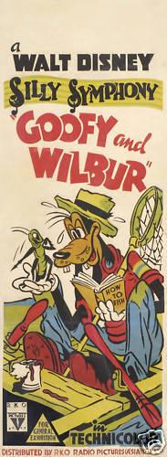 Goofy /& Wilbur vintage cartoon movie poster