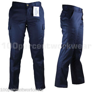 Ladies-Womens-Work-Wear-Trousers-Cargo-Combat-Action-Black-Navy-Reg-Leg-UK-Size
