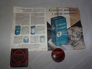 VINTAGE-1950-CUTICURA-SOAP-SHAVING-CREAM-OINTMENT-TIN-in-BOX