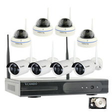 8CH Complete Wireless 720P Home IP Camera Surveillance Security System 3TB HDD