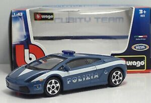 LAMBORGHINI-GALLARDO-POLIZIA-SECURITY-TEAM-BBURAGO-MODELLINO-DIE-CAST-1-43-NUOV