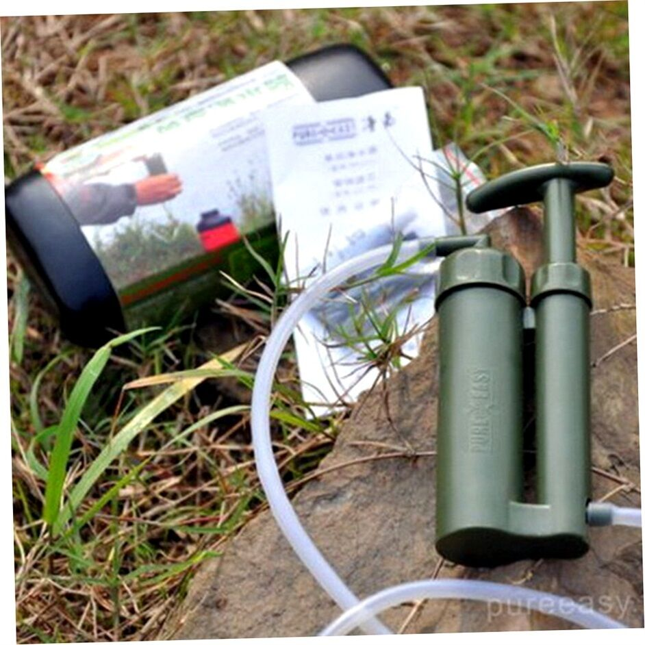 Portable Outdoor Water Filter Purify Pump Outdoor Survival Hiking Camping Q6  | Authentische Garantie
