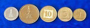 Israel-40th-Anniversary-Special-Issue-New-Sheqel-5-Coins-Set-1988-Uncirculated