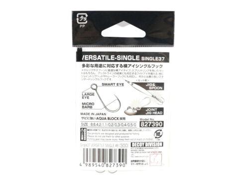 Decoy Single 37 Versatile Lure Hook Size 3//0 7468