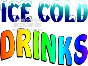 ICE-COLD-DRINKS-VINYL-DECAL-CHOOSE-A-SIZE-CONCESSION-STANDS-BOARDWALK-SHOPS
