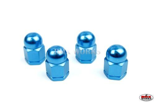 "Anodized Aluminium Bright Blue Set of 4 BMX Acorn Axle Nuts 3//8/""/' x 26tpi"