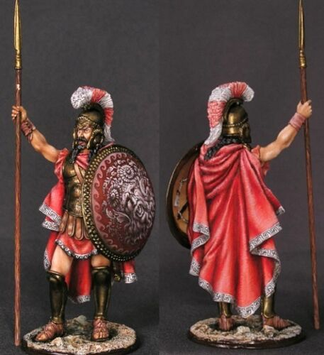 Tin toy soldiers ELITE painted 54 mm greek commander with gorgon on shield