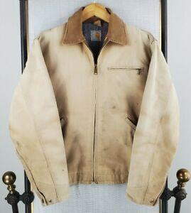 VTG-1989-CARHARTT-Size-Small-Mens-Distressed-Faded-Detroit-Duck-Trucker-Jacket