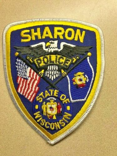 VILLAGE of SHARON WISCONSIN POLICE PATCH SHOULDER SIZE
