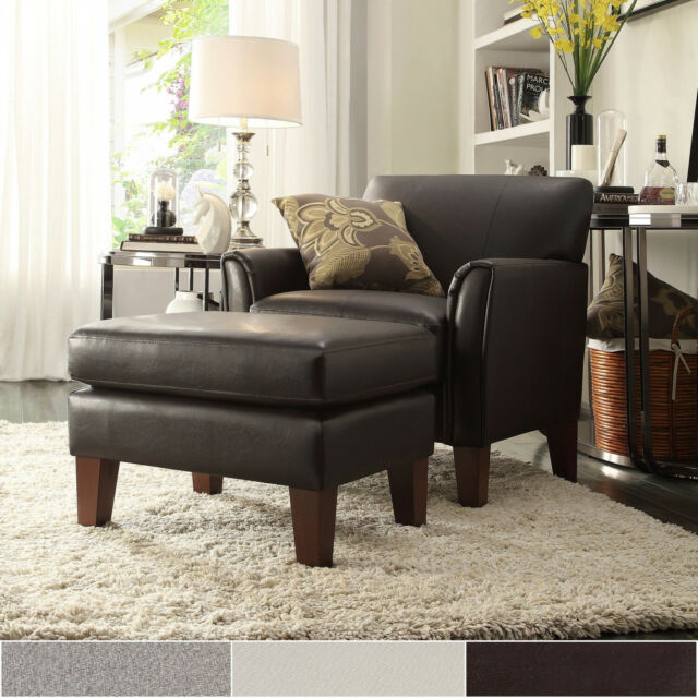 Surprising Uptown Modern Accent Chair And Ottoman By Inspire Q Classic Machost Co Dining Chair Design Ideas Machostcouk