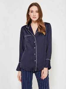 887055 stile con fit taglia in blu Pajama Banana piping Republic Camicia Dillon scuro M q1RZOw