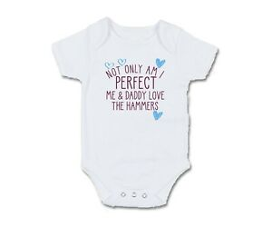 Sheffield Not only am I perfect Baby Grow Bodysuit Pullover Bib Football United