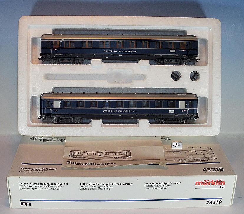 Märklin H0 43219 Schnellzugwagen-Set Loreley der DB KKK & NEM Nr. 2 OVP