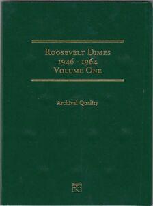Coin-Folder-for-1946-1964-Roosevelt-Dimes-Vol-1-LCF21-Quality-Album-by-Littleton