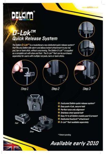 Quick Release System Delkim D-Lok 2 Ausführungen für Bissanzeiger NEU