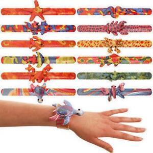 Image Is Loading Animal Snap Bands Slap Bracelets Party
