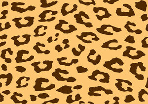 Cheetah Leopard Animal Print Background Cake Edible A4