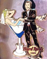 Hard Rock Cafe NIAGARA FALLS CANADA 2013 BRIDE GROOM PIN Newlyweds MARTINI GLASS
