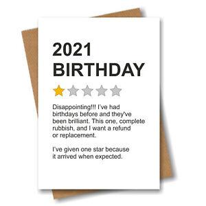 Funny Lockdown 2021 Birthday Card Men Women Husband Boyfriend Him Her Brother