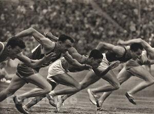 Paul Wolff 1936 vintage 11x14 germany olympics s track 100m race run sprint