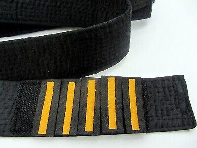 1-5 DAN Velcro RED Dan Bars KARATE Black Belt SATIN SHODAN to GODAN SENSEI