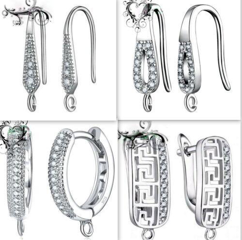 Brisuren,Ohrhaken Silber S925 1 paar Klappbrisuren für Ohrringe