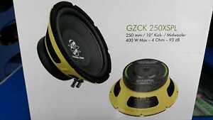 COPPIA-GROUND-ZERO-Mid-Woofer-25cm-GZCK-250XSPL-per-fronte-da-urlo-auto-25-cm