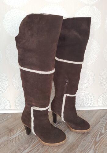 Overknees Wildleder 36 Apart Braun Größe Overkneestiefel Stiefel Weiß ORddqwvpF