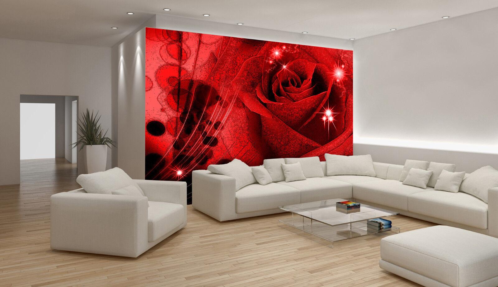 VLIES VLIES VLIES Fototapete-ROTE ROSE-(339)-Design Blumen Orchideen Blüten Pflanzen Deco 246106