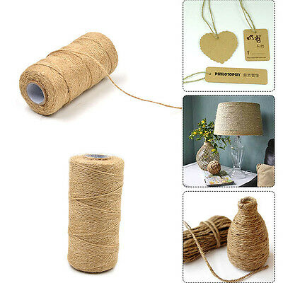 100 Meters Natural Dry Twine Cord Jute Twine Rope For DIY Decor Toy Crafts Parts