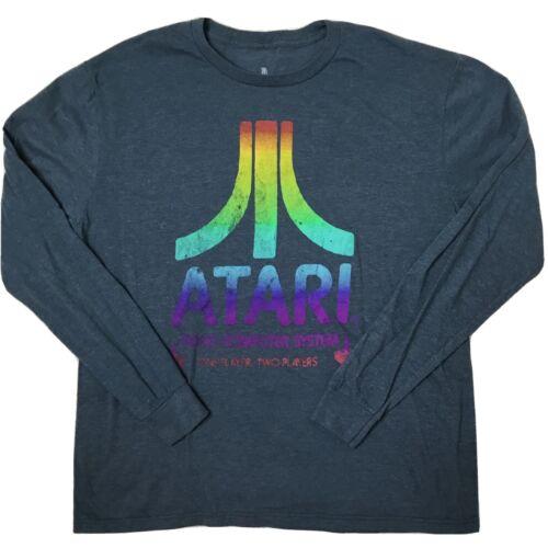 Ripple Junction Atari Adult Unisex Logo in Circles Fleece Crew Sweatshirt
